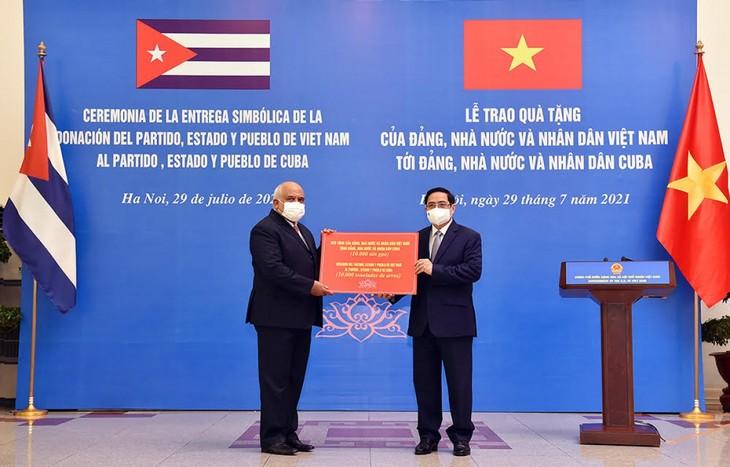 Vietnam und Kuba arbeiten bei Herstellung von COVID-19-Impfstoff zusammen - ảnh 1