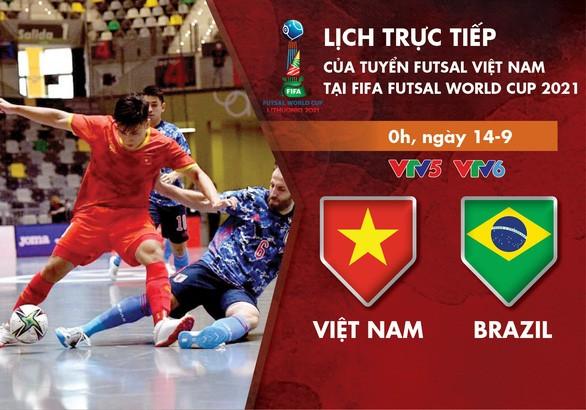 Vietnamesische Futsalmannschaft trifft auf Brasilien in der Finalrunde der Futsal-WM 2021 - ảnh 1