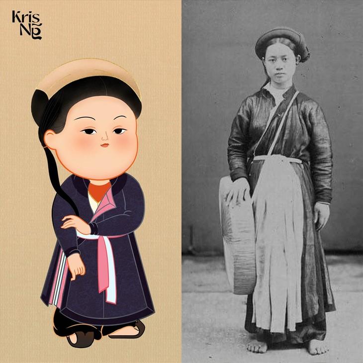 Frauentrachten in der Nguyen-Dynastie waren nicht eintönig - ảnh 1