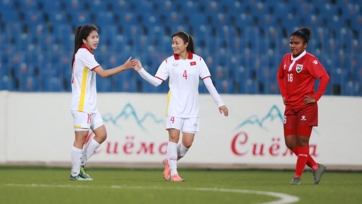 Die vietnamesische Fußballmannschaft der Frauen siegt sensationell gegen die Mannschaft aus Malediven - ảnh 1