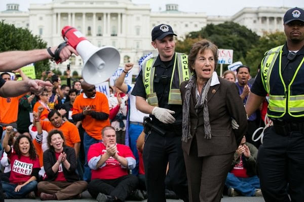 Protests in the US for immigration reform  - ảnh 1