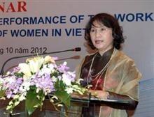 Vietnam por el progreso de la mujer - ảnh 1