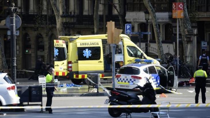 Al menos 26 franceses figuran entre los heridos del atentado de Barcelona - ảnh 1