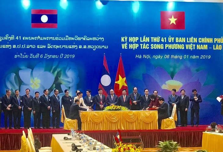 Celebran Reunión 41 del Comité Intergubernamental Vietnam-Laos - ảnh 1