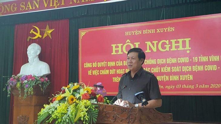 Levantan cuarentena por coronavirus en provincia de Vinh Phuc - ảnh 1
