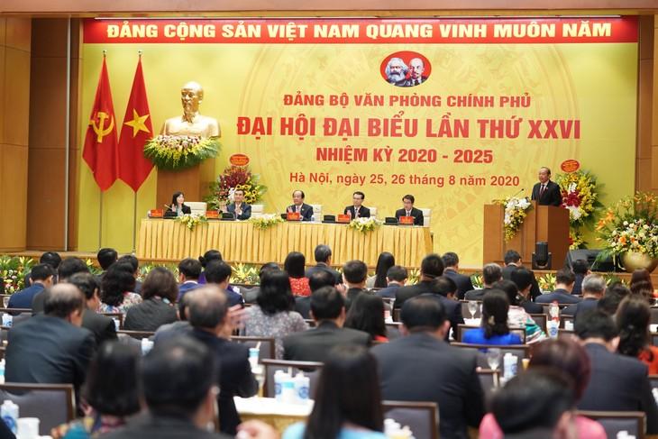 Celebran el XXVI Congreso del Comité del Partido Comunista de la Oficina del Gobierno de Vietnam - ảnh 1