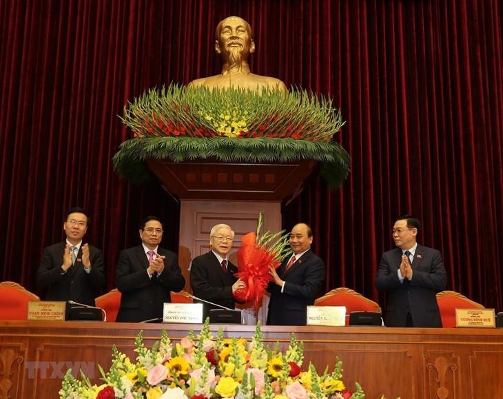 Nguyen Phu Trong reelegido como secretario general del Partido Comunista y presidente de Vietnam - ảnh 1