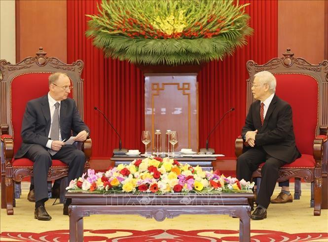 Máximo dirigente vietnamita se reúne con el secretario del Consejo de Seguridad de Rusia - ảnh 1