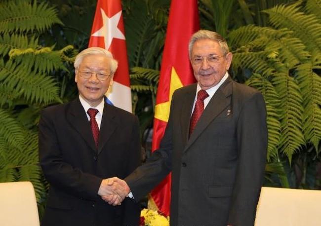Líder partidista vietnamita envía mensaje a Raúl Castro  - ảnh 1