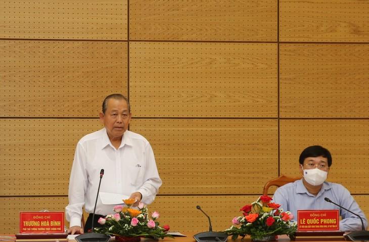 Dong Thap refuerza las medidas de prevención del covid-19 - ảnh 1