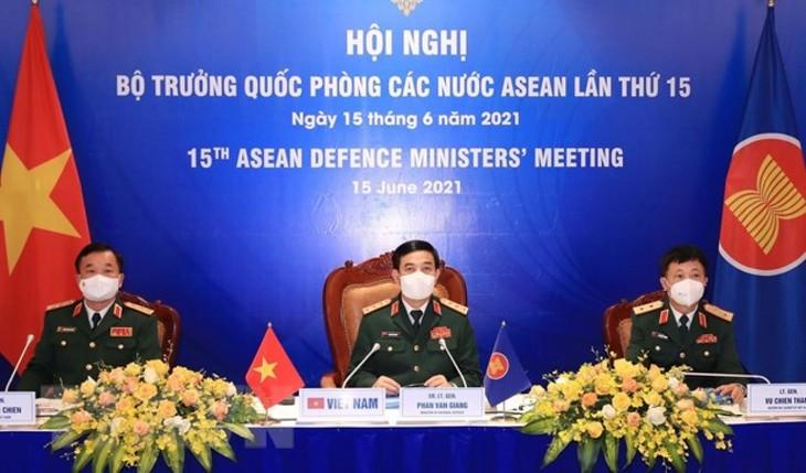 Ministros de Defensa de la Asean adoptan declaración por la paz y prosperidad de la región - ảnh 1