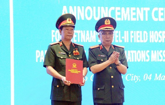 3호 2급 야전병원에게 남수단 평화유지군 파견임무 수여 - ảnh 1