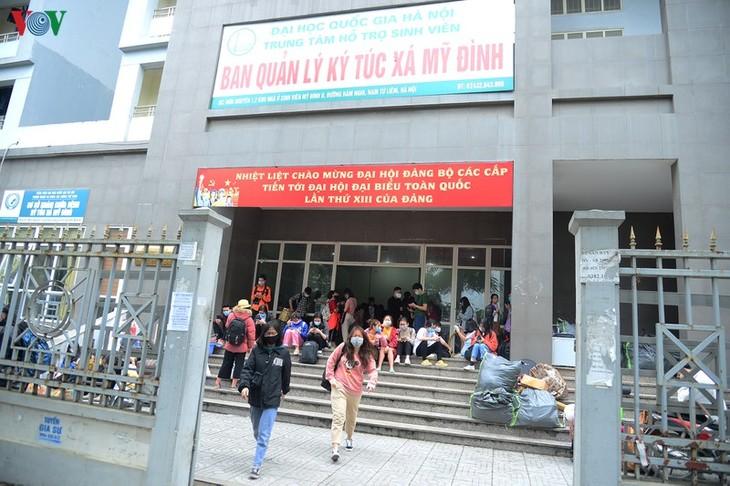 하노이 대학교들, 격리 장소 시설 지원 - ảnh 1