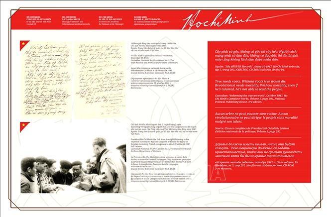 호찌민주석의 인생과 업적에 대한 서적, 자료 전시회 - ảnh 1