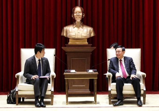 하노이시 위원회 서기, 베트남 AEONMALL 회사 회장과 접견 - ảnh 1