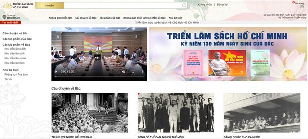 호찌민 주석 탄생 130주년을 기념하는 온라인 서적 전시회 개막 - ảnh 1