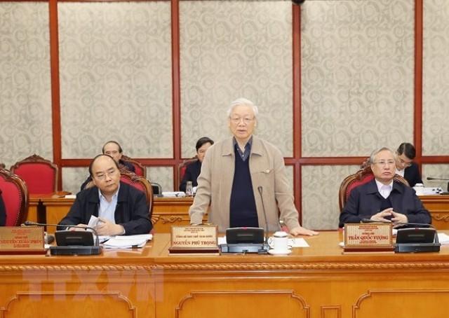 응우옌 푸 쫑 서기장–국가주석 : 합당한 의견을 청취하여 당의 13차 대회 문건 초안 완비 - ảnh 1