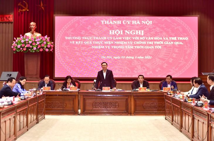 하노이 수도를 전국의 큰 문화중심지로 세워… - ảnh 1
