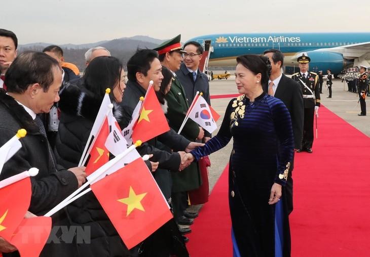 Nguyên Thi Kim Ngân arrivée à Séoul - ảnh 1