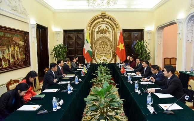 Vietnam - Myanmar: consultation politique au niveau des vice-ministres - ảnh 1