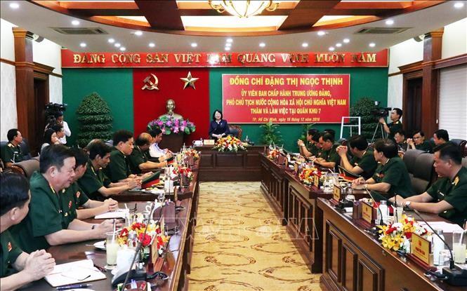 Dang Thi Ngoc Thinh dans la septième zone militaire - ảnh 1