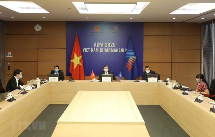 Covid-19 : Visioconférence de l'AIPA sur le rôle des parlements aséaniens - ảnh 1