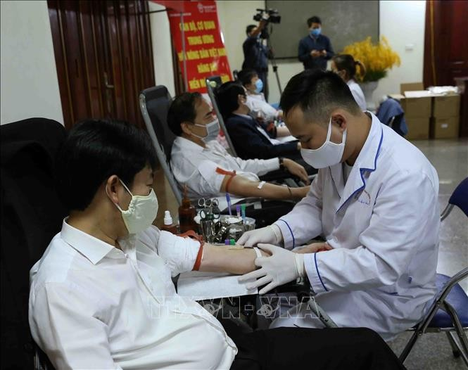 Covid-19: Collecte de sang par l'Union des agriculteurs vietnamiens  - ảnh 1