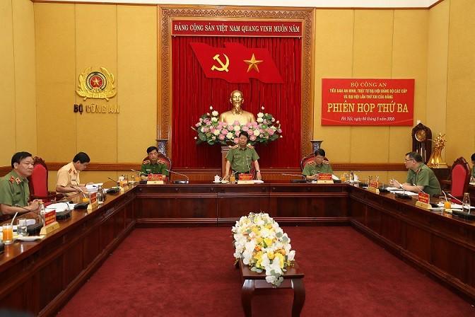Troisième réunion de la sous-commission sur la sécurité des congrès du Parti - ảnh 1