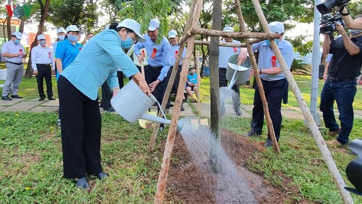 Lancement de la fête de plantation d'arbres à Hô Chi Minh-ville - ảnh 1