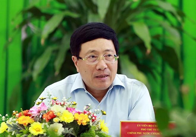 Pham Binh Minh travaille avec les autorités du delta du Mékong  - ảnh 1