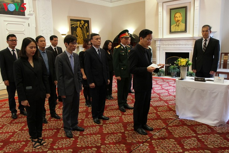 Cérémonie d'hommage à l'ancien secrétaire général Lê Kha Phiêu à Washington - ảnh 1
