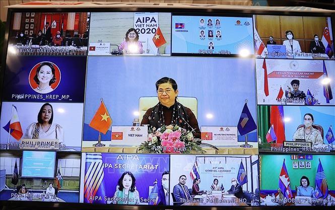 AIPA-41 : visioconférence des femmes parlementaires  - ảnh 1