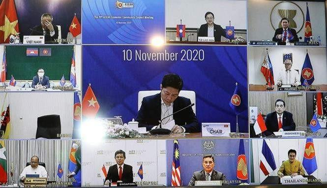 Les ministres de l'ASEAN ont convenu de faciliter la circulation des biens essentiels dans la région - ảnh 1