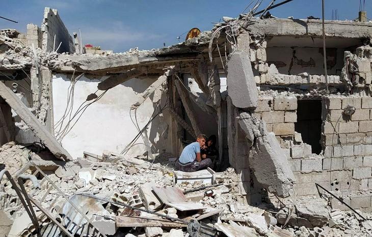 Israël a mené des frappes aériennes dans le sud de Damas - ảnh 1