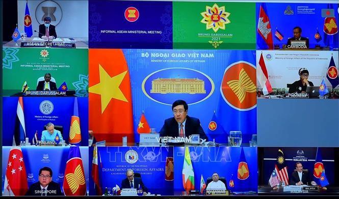 ASEAN: Publication d'une déclaration des ministres des Affaires étrangères sur le Myanmar - ảnh 1