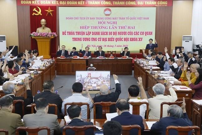 Législatives: troisième conférence consultative pour établir la liste des candidats des organes relevant du pouvoir central - ảnh 1