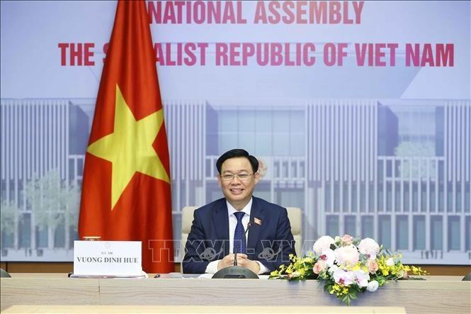 Vietnam-Chine: entretien Vuong Dinh Huê – Li Zhanshu - ảnh 1