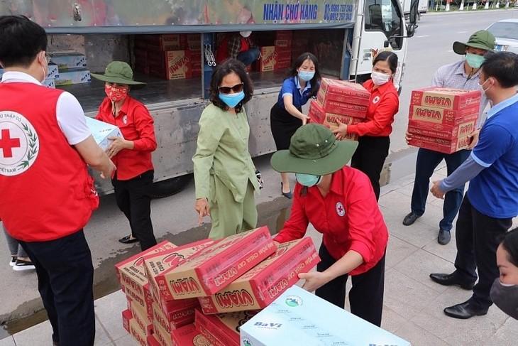 Covid-19: la Croix-Rouge du Vietnam reçoit des soutiens   - ảnh 1