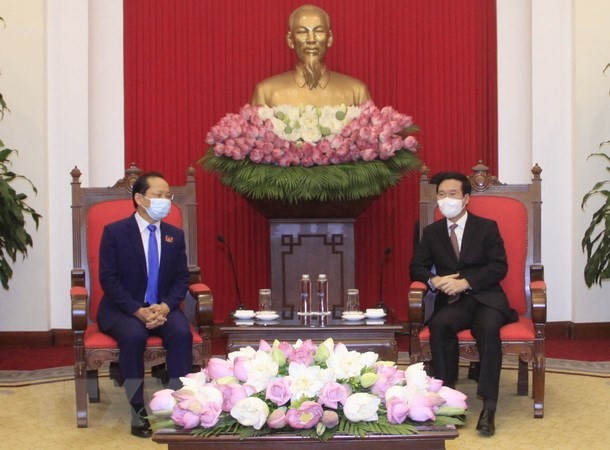 Vo Van Thuong reçoit Chay Navuth - ảnh 1