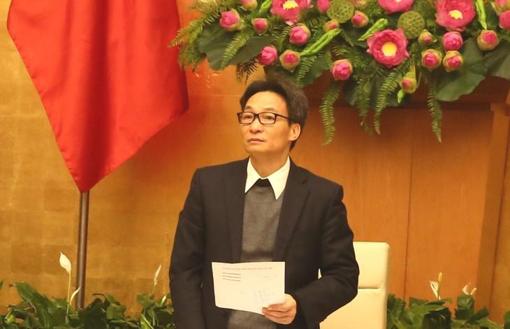 Вице-премьер Ву Дык Дам: решительно бороться с распространением коронавируса - ảnh 1