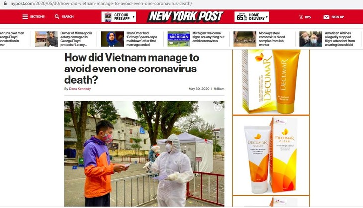 Мировые СМИ высоко оценили успех Вьетнама в противодействии Covid-19 - ảnh 1