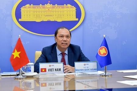 Прошел 33-й диалог между АСЕАН и США в режиме онлайн  - ảnh 1