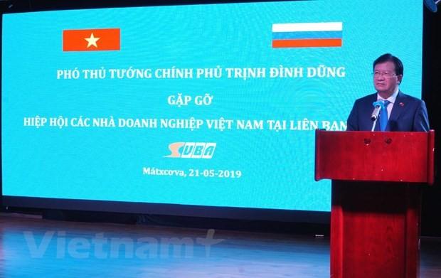 찐딘중 부총리, 러시아 소재 베트남 기업들과의 만남 - ảnh 1