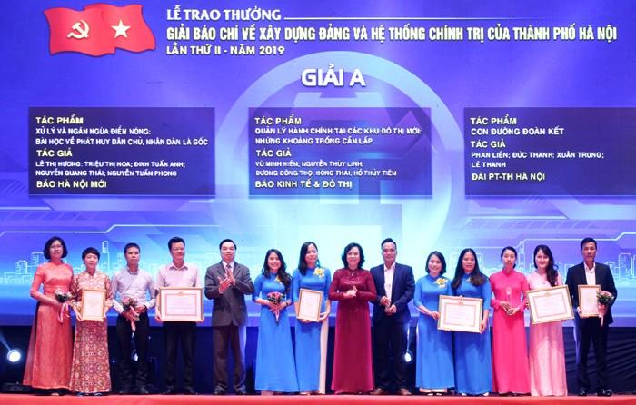 Hà Nội trao giải báo chí về xây dựng Đảng và phát triển văn hoá lần thứ II  năm 2019 - ảnh 1