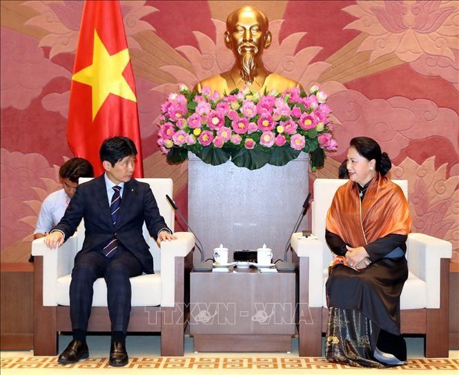 Chủ tịch Quốc hội Nguyễn Thị Kim Ngân tiếp Đoàn đại biểu tỉnh Gunma, Nhật Bản - ảnh 1