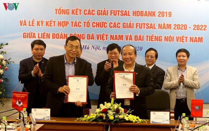 VOV và VFF tiếp tục hợp tác tổ chức các giải futsal 2020- 2022 - ảnh 2
