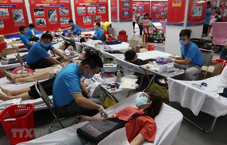 Tuổi trẻ Thành phố Hồ Chí Minh hăng hái hiến máu tình nguyện - ảnh 1