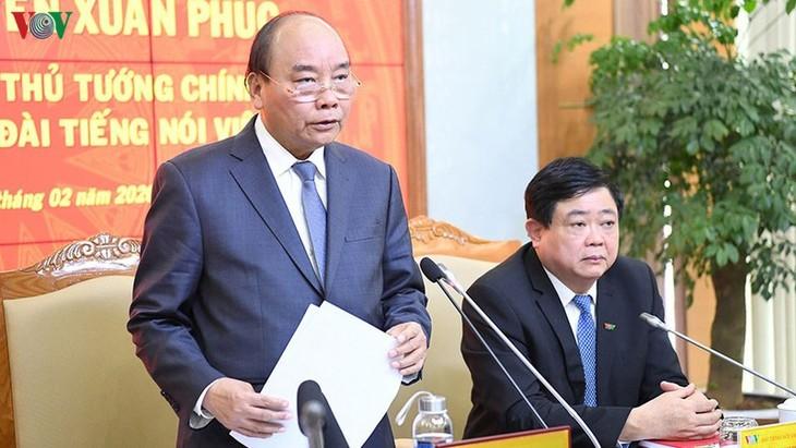 Thủ tướng Nguyễn Xuân Phúc: VOV cần tiếp tục thể hiện vai trò cơ quan báo chí hàng đầu - ảnh 1