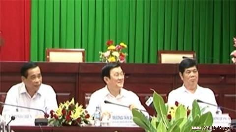 Presiden Vietnam Truong Tan Sang bekerja dengan propinsi Soc Trang - ảnh 1