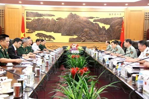 Deputi Menhan Vietnam melakukan kunjungan kehormatan kepada Menhan Tiongkok - ảnh 1